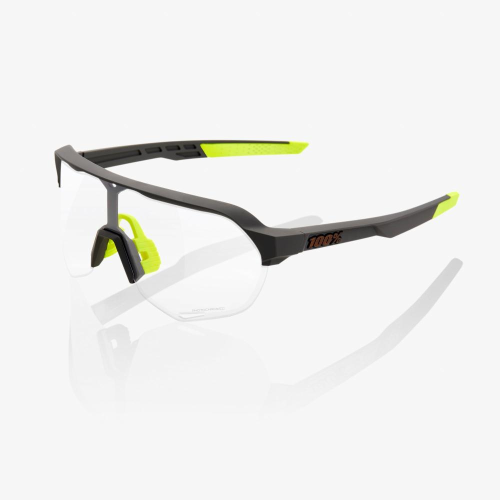 Okuliare 100% S2 - Soft Tact Cool Grey - Photochromic Lens