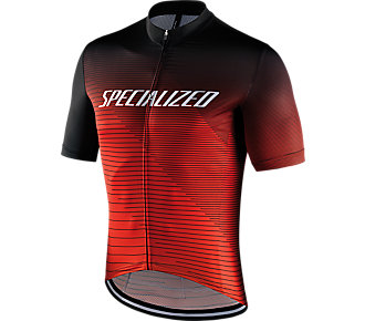 Dres SPECIALIZED RBX Comp Logo Team SS Jersey Black/Rocket Red/Red