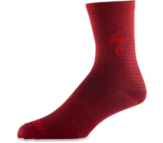 Ponožky SPECIALIZED Soft Air Road Tall Sock Crimson/Rocket Red Arrow