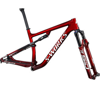 Rám SPECIALIZED S-Works Epic Frameset Gloss Red Tint Fade Over Brushed Silver/Tarmac Black