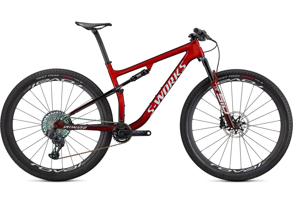 SPECIALIZED S-Works EPIC Gloss Red Tint Fade Over Brushed Silver / Tarmac Black / White w/