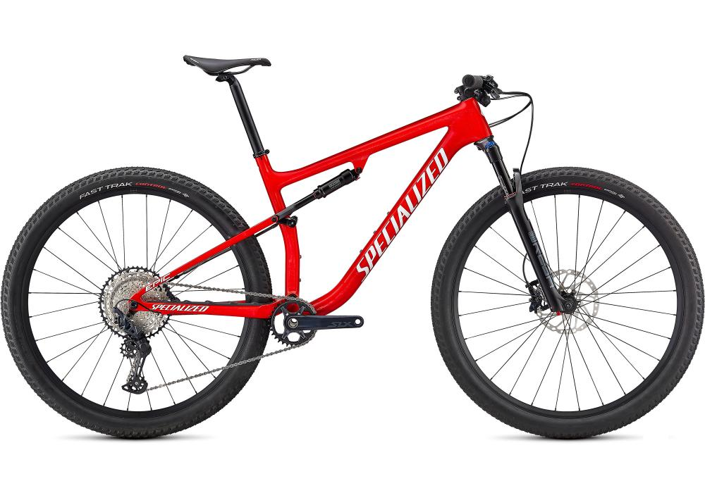 SPECIALIZED EPIC Comp Gloss Flo Red / Red Ghost Pearl / Metallic White Silver - Test Bike