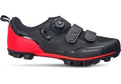 Tretry SPECIALIZED Comp Mountain Bike Shoes Black/Rocket Red