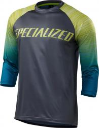 Dres SPECIALIZED ENDURO COMP 3/4 JERSEY Black Teal Fade
