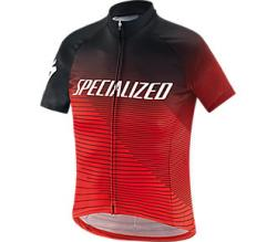 Detský dres SPECIALIZED RBX Comp Logo Team Youth SS Jersey Black/Rocket Red/Red