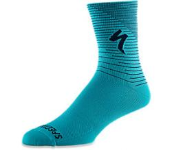 Ponožky SPECIALIZED Soft Air Road Tall Sock Aqua / Cast Blue Arrow