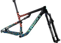 Rám SPECIALIZED S-Works Epic Frameset Gloss Carbon / Cobalt Marble / Brassy Yellow marble