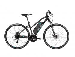 KROSS Evado Hybrid 1.0 504 Wh Black / Turquoise Glossy